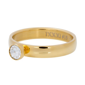 iXXXi Ring Zirkonia 1 Stone Crystal 4mm R03001-01