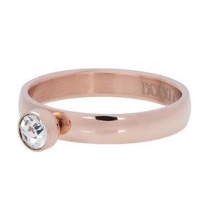 iXXXi Ring Zirkonia 1 Stone Crystal Rose 4mm R03001-02