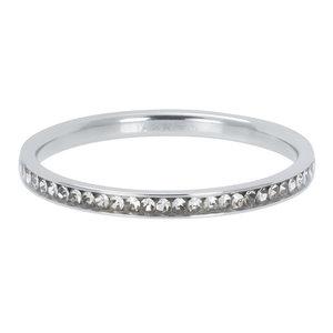 iXXXi Ring Zirkonia Blackstone Zilver 2mm R02501-03
