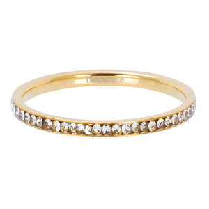 iXXXi Ring Zirkonia Crystal Goud 2mm R02501-01
