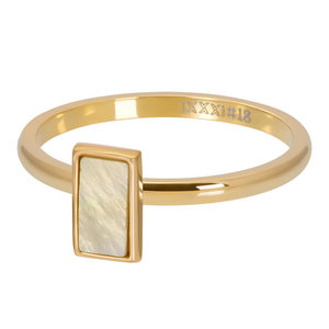 iXXXi ring Yellow Shell Stone Goud, 2mm R04212-01