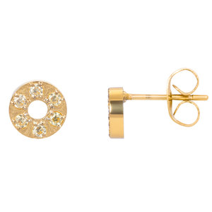 iXXXi oorbellen. Ear studs Circle stone 6 mm Goud. E0380199001