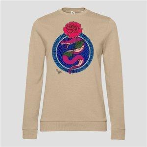 PinnedbyK sweater Circle Snake Taupe