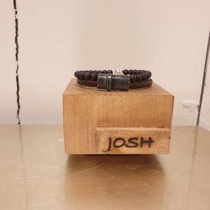 Josh For Him Armband Vlecht 92474 bra