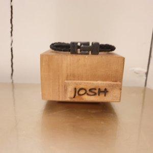 Josh For Him Armband zwart.