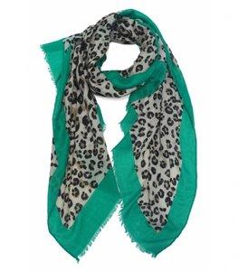 Sjaal met luipaardprint GREEN