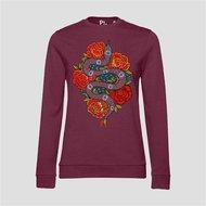 PinnedbyK-sweater-rose-snake-bordeaux